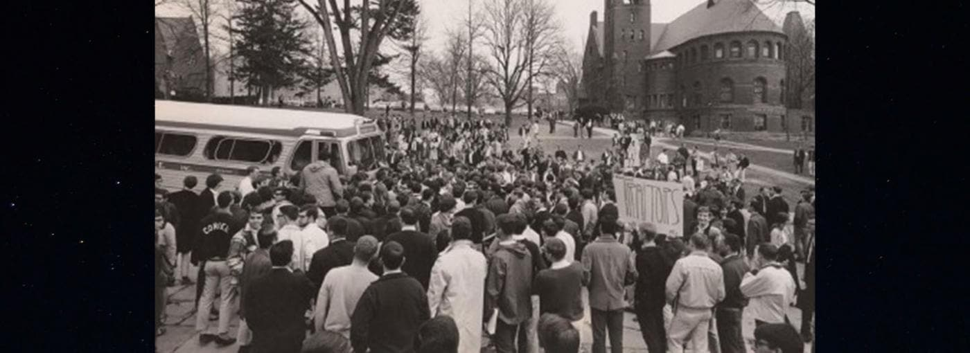 Student protest on Cornell campus