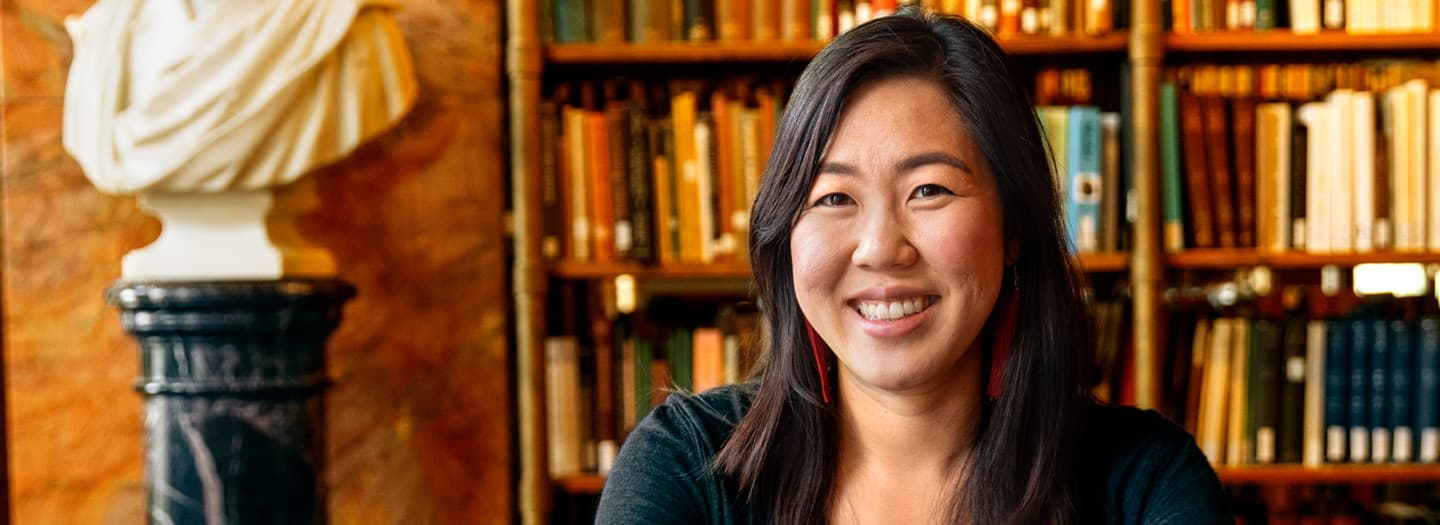 Julia Chang in A.D. White Library