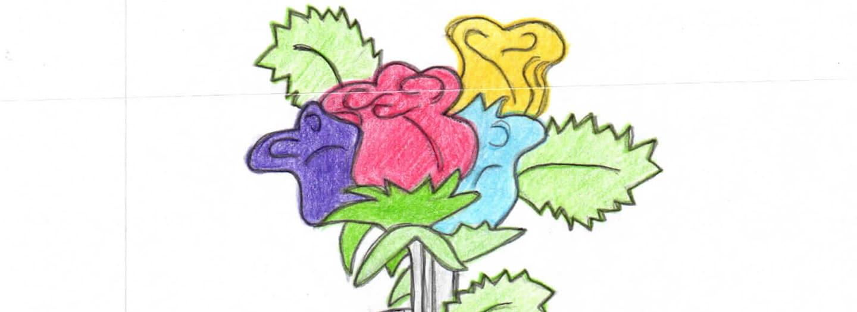 Ingrid flowers drawing